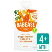 Babease Organic Sweet Potato, Carrot & Cauliflower