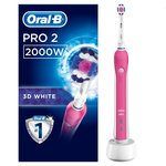 Oral-B Pro 2000 CrossAction Electric Toothbrush, Pink
