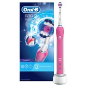 Oral-B Pro 2 2000W 3D White Electric Rechargeable Toothbrush, Pink
