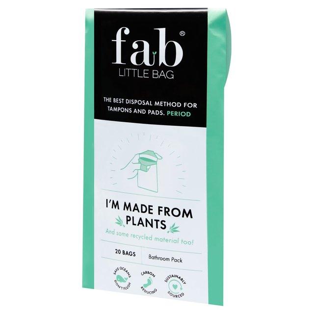 Fablittlebag Tampon Disposal Bag Bathroom Pack