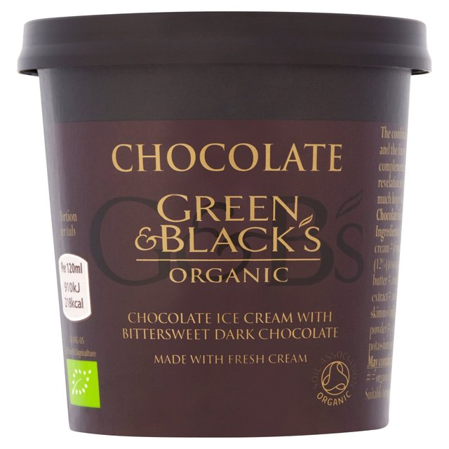 Black and green organic chocolate