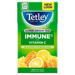 Tetley Super Immune Green Tea Bags with Lemon & Honey