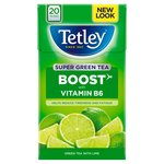Tetley Super Green Tea Boost Lime Tea Bags