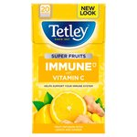 Tetley Super Fruit Tea Immune Lemon & Ginger Tea Bags