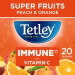 Tetley Super Fruit Tea Immune Peach & Orange Tea Bags