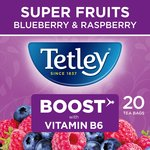 Tetley Super Fruit Tea Boost Blueberry & Raspberry Tea Bags