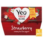 Yeo Valley Organic Strawberry Yogurt Pots