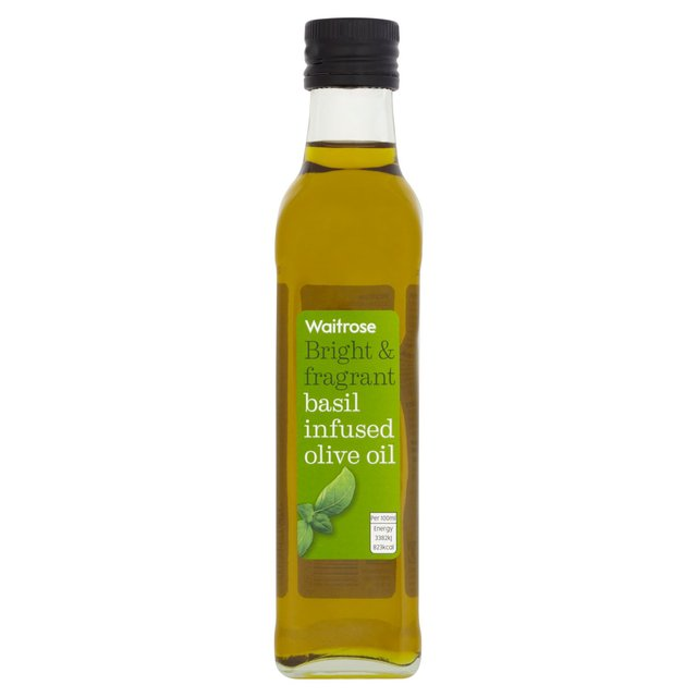 Basil Infused Olive Oil Waitrose 250ml from Ocado
