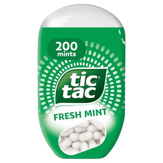 tic tac bottle pack fresh mint 96g from ocado. Black Bedroom Furniture Sets. Home Design Ideas
