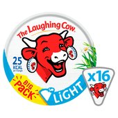 The Laughing Cow Light Cheese Triangles 16 per pack