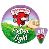 The Laughing Cow Extra Light Cheese Triangles 8 per pack