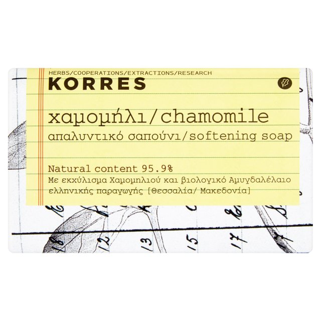 Korres Natural Chamomile & Almond Oil Face & Body Soap, Vegan