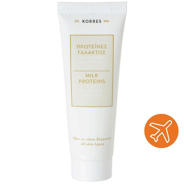 Korres Natural Travel Size Milk Proteins 3 in 1 Cleansing Emulsion