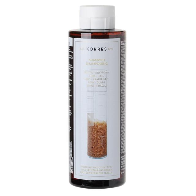 Korres Natural Shampoo Rice Proteins and Linden for Thin & Fine Hair