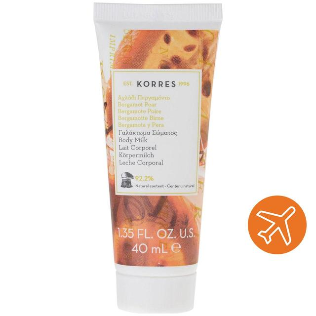 Korres Natural Travel Size Bergamot Pear Body Milk, Vegan