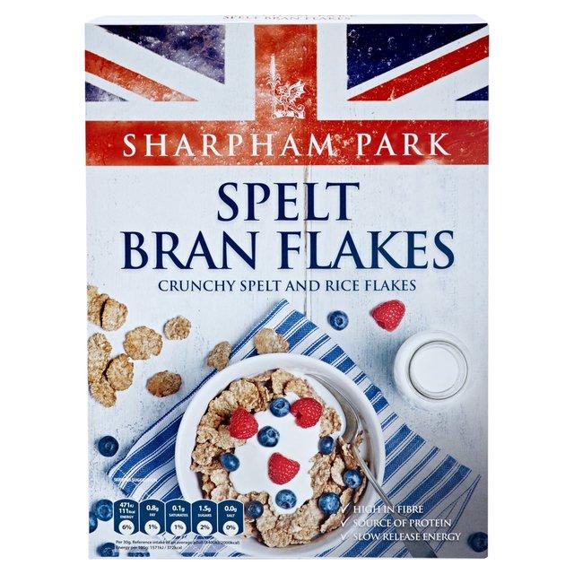 sharpham park crunchy spelt bran flakes 375g from ocado