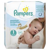 Pampers New Baby Sensitive Nappies Size 1 Carry Pack