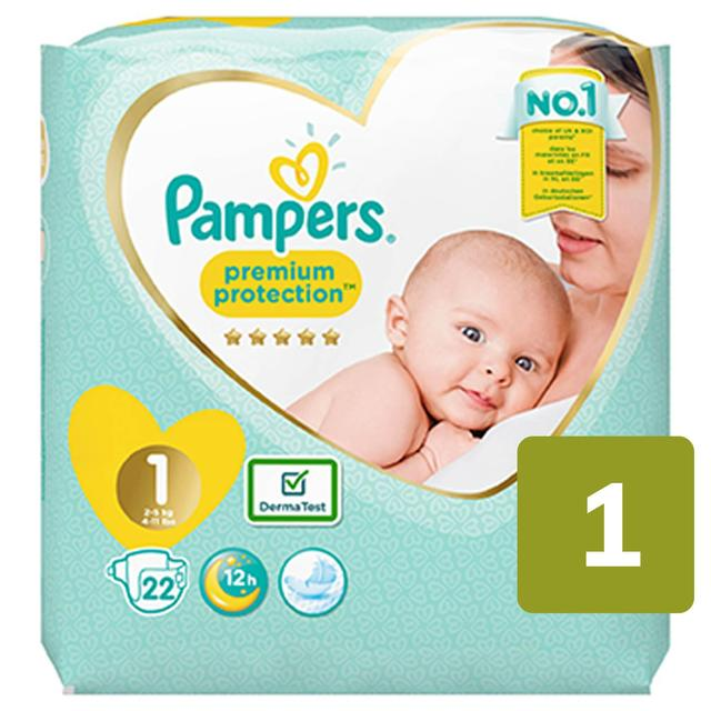 Pampers New Baby Nappies Size 1 Carry Pack 22 Per Pack