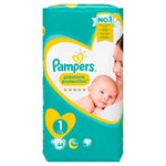 Pampers New Baby Nappies Premium Protection Size 1 Essential Pack