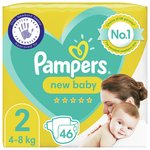 Pampers New Baby Nappies Premium Protection Size 2 Essential Pack