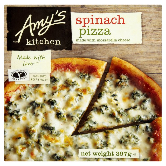 Amy\'s Kitchen Spinach Pizza Frozen 397g from Ocado