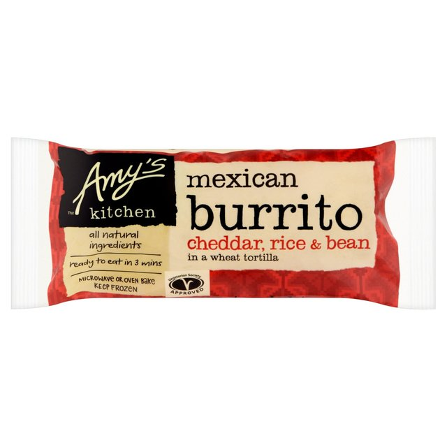 Amy S Kitchen Cheddar Rice And Bean Burrito