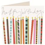 Caroline Gardner Happy Birthday Candles Card