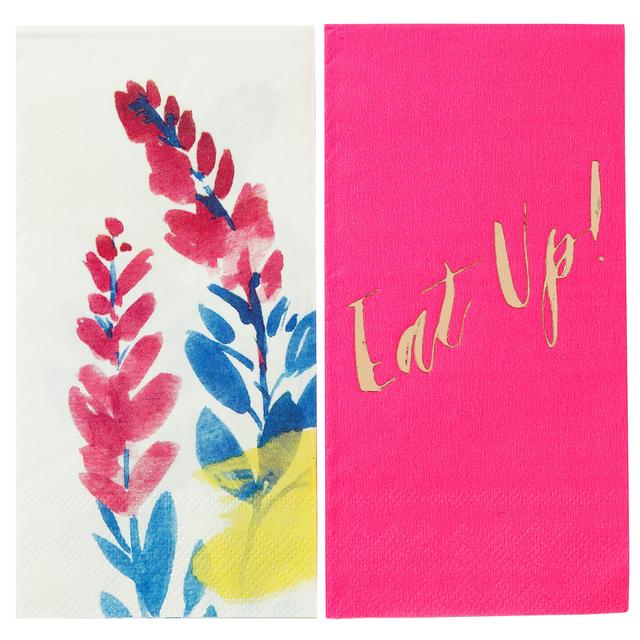 Talking tables fluorescent floral duo paper napkins 12 per pack from talking tables fluorescent floral duo paper napkins mightylinksfo