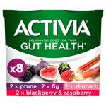 Activia Fig , Rhubarb , Prune, & Blackberry and Raspberry Yogurts