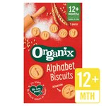 Organix Alphabet Organic Toddler Snack Biscuits Multipack