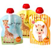 Squiz Sophie La Girafe 3 Reusable Baby Food Pouches