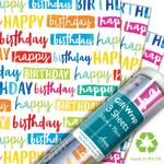 Painted Birthday Gift Wrap Sheets