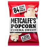 Metcalfe's Skinny Cinema Sweet Popcorn Sharing Bag