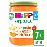 HiPP Organic Star Pasta with Butternut Squash & Chicken