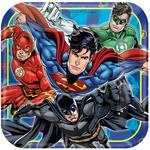 Justice League Paper Plates, 17cm