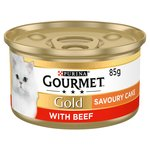 Gourmet Gold Savoury Cake Cat Food Beef
