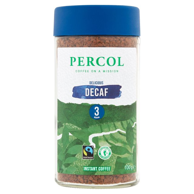 Percol Fairtrade Decaf Colombia Freeze-Dried Instant Coffee