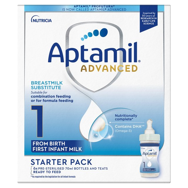Aptamil Profutura 1 First Milk Ready To Feed Starter Pack 6 X 70ml