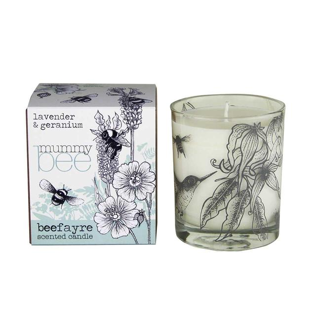 Beefayre 'Mummy Bee' Lavender & Geranium Large Scented Candle