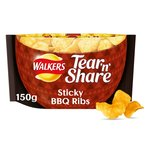 Walkers Tear & Share Sticky BBQ Ribs Crisps