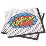 Ginger Ray Comic Book Superhero Party Paper Napkins