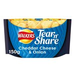 Walkers Tear & Share Cheddar & Onion Crisps