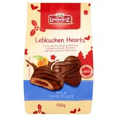 Lambertz Christmas Lebkuchen Milk Chocolate Hearts with Fruit Filling