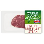 Duchy Waitrose Organic British Beef Fillet Steak