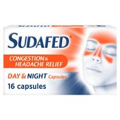 Sudafed Congestion & Headache Day & Night Capsules