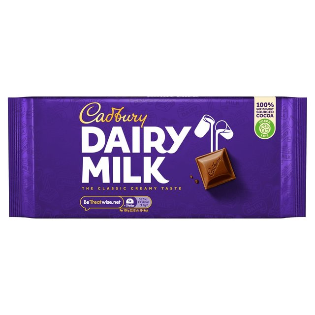 Cadbury Dairy Milk Chocolate Bars Gm Pouch