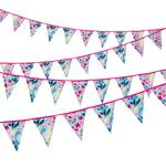 Talking Tables Fluorescent Floral Fabric Bunting