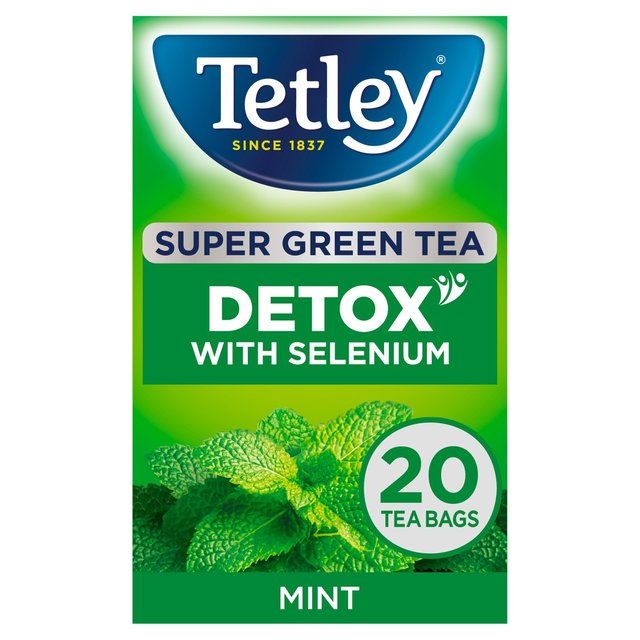 Tetley Super Green Detox Mint Tea Bags 20 Per Pack From Ocado
