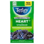 Tetley Super Green Heart Forest Fruits Tea Bags