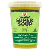 Soulful Soup Thai Chilli Kale with Edamame, Peas & Quinoa